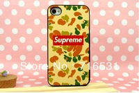 New arrive Suprem Camouflage uniforms mobile phone shell case for Iphone 4 4S  Yellow color