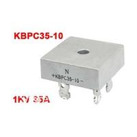 KBPC35-10 Silver Tone Metal Case Single-Phase Bridge Rectifier 1KV 35Amp
