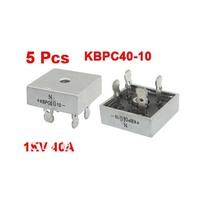5 Pcs KBPC40-10 1KV 40A Single Phase Bridge Rectifier Half-Wave Silver Tone
