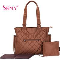 Skinly brief classic Multifunctional 3 piece sets nappy bag  handbag one shoulder bag mommy bag