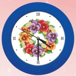 Stella free shipping Dmc cross stitch flower cross stitch wall clock clock garishness clock movements