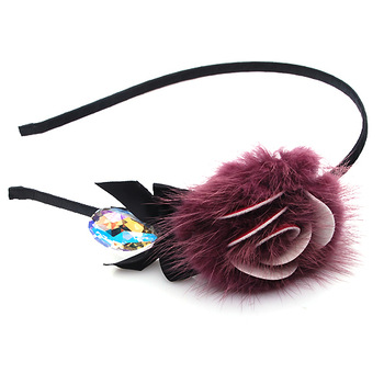 Stella free shipping Yapolo rabbit fur hair band hair accessory hair bands headband rose hair accessory hair band xj171