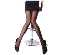 2013 Women's  Free Shipping  Tights Plus Size Pure Color Add Crotch Core-spun Silk Pantyhose Carnation And Black  WZ13041006