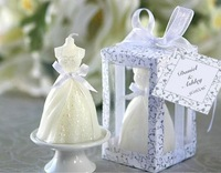 wedding dress candle favor gifts party favor wedding gifts for guest wedding souvenirs birthday gifts free shipping 30pcs/lot