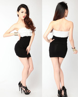 Sexy one-piece dress slim tube top women one-piece dress basic short  slim hip fashion