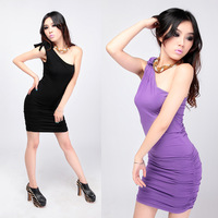 Basic slim one-piece dress fashion sexy one-piece dress fashion one-piece dress hot-selling women's