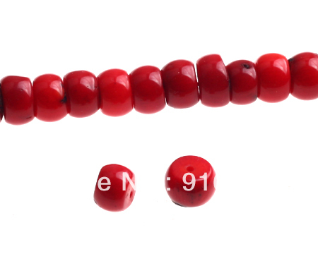 Free Shipping 10 strands/lot Red Coral Beads Fashion Beads Accessories Jewelry DIY Charms(China (Mainland))