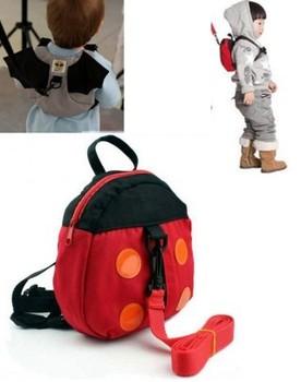 Bat Ladybug baby Kid Keeper Toddler Walking Safety Harnesses Backpack Strap Bag