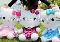 "wholesale plush stuffed doll hello kitty toy 50cm or 20"" size free shipping 20pcs.lot"