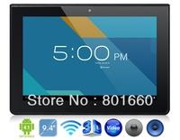 Ramos W41 Quad Core Tablet PC 9.4 Inch IPS Screen Android 4.1 1GB RAM 16GB Dual Camera Black