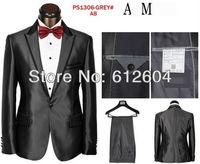 2013 new style grey men slim dress suits high quality men slothes two pecies gentlemen suits