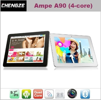 9.7'' IPS 10-Points  Touch Screen Ampe A90 quad core Tablet PC Android4.1 Wifi camera bluetooth
