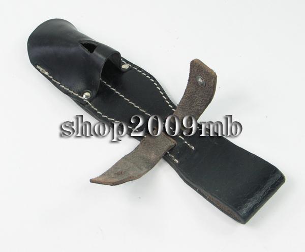 WWII German Army K 98 Kar 98 Knife Man made Leather Belt Knife Sheath Scabbard Black