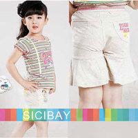 Girls Shorts Free Shipping Stylish Kids Summer Trousers Little Girl Cartoon Shorts Casual Pants, 5pcs/lot K0877