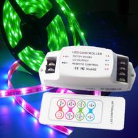 Free Shipping!LED RGB controller 12-24V flexible RGB LED Controller RF LED controller for 5050 strip