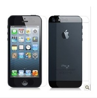 50pcs(25front+25back) free shipping for 3 part clear screen protector for iphone5 with retail package