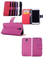 Free shipping ,Fine sheep Leather Cases for Samsung Galaxy S4 i9500,Cover with Card Holders for Samsung SIV i9500