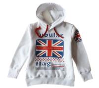 Autumn and winter child sweatshirt m word flag fashion casual plus velvet outerwear sweatshirt