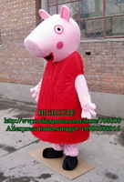 Peppa Pig Mascot Costume Adult Size Cartoon Character Mascotte Outfit Suit No.141 Free Shipping