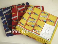 End of a single exquisite 100% cotton print Men bandanas handkerchief 43cm 100% cotton