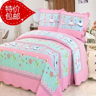 100% girl cotton quilting by bed cover child by piece bedding set