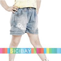 Kids Bloomers Girls Shorts Fashion Little Girl Summer Jeans Children Hot Shorts Summer Shorts, 5pcs/lot,Free Shipping  K0878