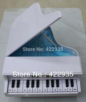 High Quality Elegant Classical Piano Shape White New Cord Phone Home Desk Telephone Free Shipping