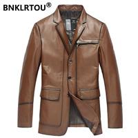 Noble elegant cowhide suit male genuine leather clothing suit leather clothing male