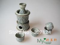 free shipping wholesale new arrival  japanese style 7pcs/set celadon ceramic sake pot  wine glass set wedding gift high quality