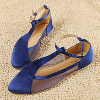 2013 sandals female flat heel boat shoes lace flat pointed toe flat shoes
