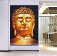 "shipping free  24 by 36"" LargeBuddha TOP handpaint ART Canvas OIL Painting Statuesa44"