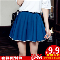 Summer bust skirt candy pleated expansion of the small bottom laciness pleated skirt women's