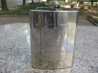 Outdoor stainless steel hip flask jack danny 8oz