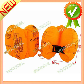 1 Pair Inflatable Swimming Arm Bands Ring Armbands for Adult Kids Orange, Free Shipping, Mini Order 1 pcs