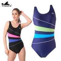 Ying fat 2013 women's one piece trigonometric color block decoration yf1506 swimwear