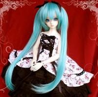 Free shipping 1/4 gree bjd doll wig
