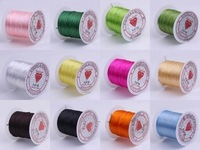 10 Rollsx10M Mixed 0.8MM Strong Crystal Beading Stretch Elastic Cord Wire String DIY Jewelry Craft Bracelet Making