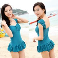 Hongyu 2013 one-piece swimsuit female swimsuit skirt plus size swimwear available