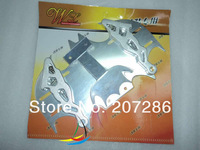 Free shipping 1pc/lot MOTORCYCLE Cool Bat Shape Modified License Plate Frame for Motorcycle 130525 silver
