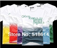Free shipping! Hot Brand T-Shirts Summer Casual T Shirts men's t-shirt Slim-Fit t Shirt Camisas Para gradient color t-shirt