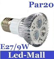 CSA Quality + 9W Par20 E27 Led Light Bulb 110-240V Cold/Warm White 90 Angle Led Lamps Energy Saving