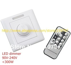 8A IR LED dimmer switch IR Remote PWM controller for E27 GU10 led dimmable spotlights dimming downlight +2pc + Free ship(China (Mainland))