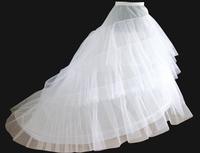 On Sale New 2014 Wedding Dresses Accessories Underskirt Wholesale Cheap 2 Circle 3 Yarn Panniers Big Trailing Princess Petticoat