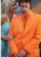 Mens wedding suits 2013 men ORANGE TUXEDO Slim business suits Jacket+pants