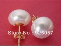 Charming!10-11mm White Akoya Freshwater Pearl Earring AAAFashion jewelry