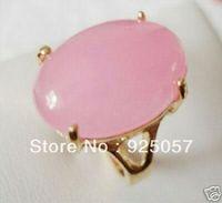 Beautiful!Pink Chalcedony Ring 7 8 9 Fashion jewelry
