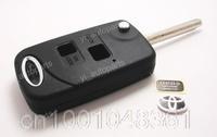 Remote Flip Folding Key Shell Case Keyless Fob For Toyota RAV4 Corolla Camry Avalon Echo Prado 2B