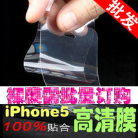 For iphone  5 hd film  for apple   5 mobile phone fingerprint protective film