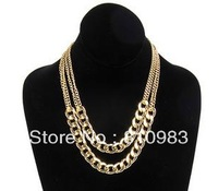 2013 jewelry fashion gold chain two layers necklace Store