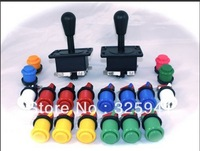 Joystick Pack, 2 Joysticks and 18 Micro switches.arcade kit,jamma